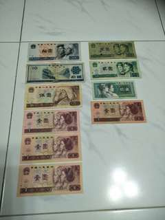 10pc of old china notes