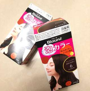 Japan Kao Blaunē Hairdye in Shade 6 (Dark Brown)