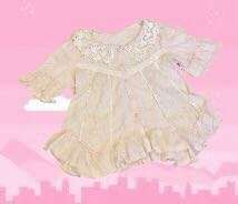 Pink ruffled lolita top