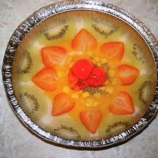 鮮果椰汁大菜糕/ 椰汁紅豆糕