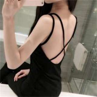 Fashion Back Cross Sexy Crop Top