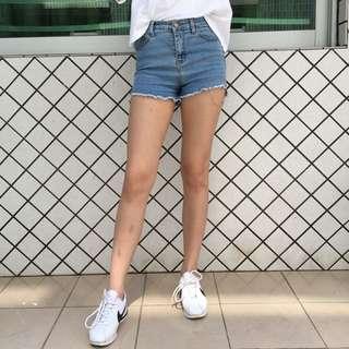 淺藍蘇蘇短牛仔褲