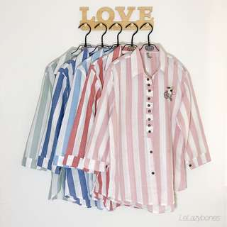 Striped Blouse/Shirt (Bicycle Design)