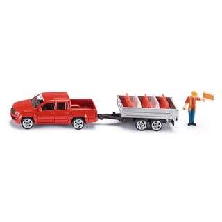 VW Amarok Pick-Up with Tipping Trailer - Siku