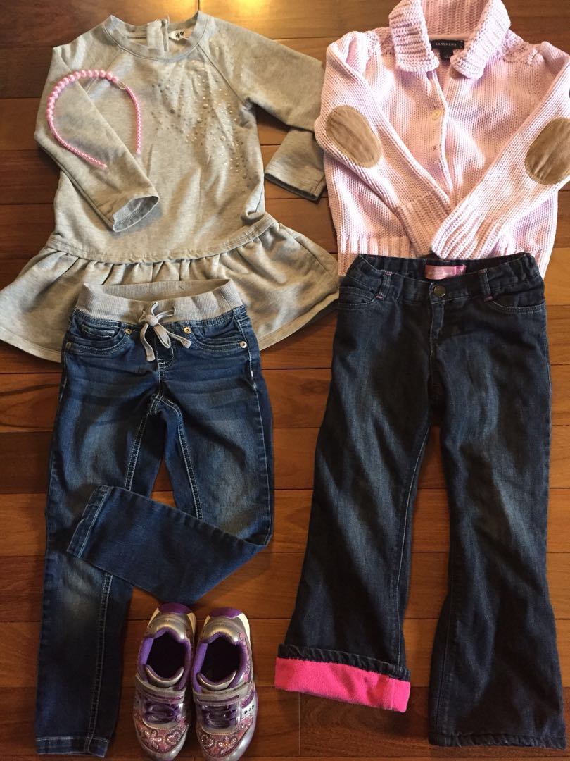 6 pc Girls Winter Outfit Size 4/5