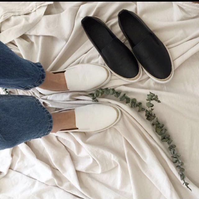 簡約黑色懶人鞋