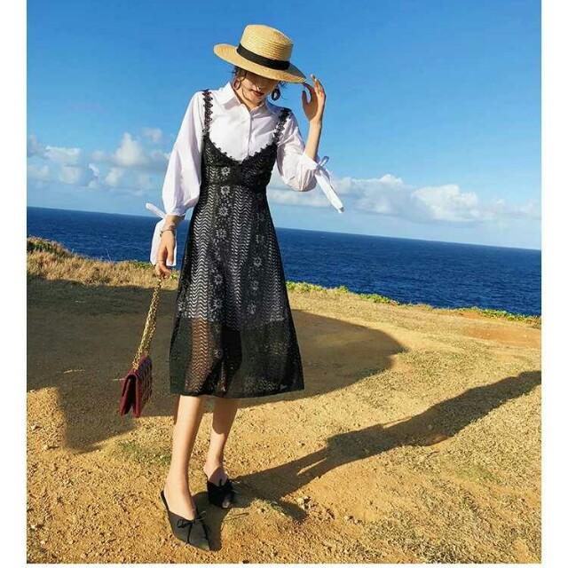 蕾絲吊帶連衣裙兩件式