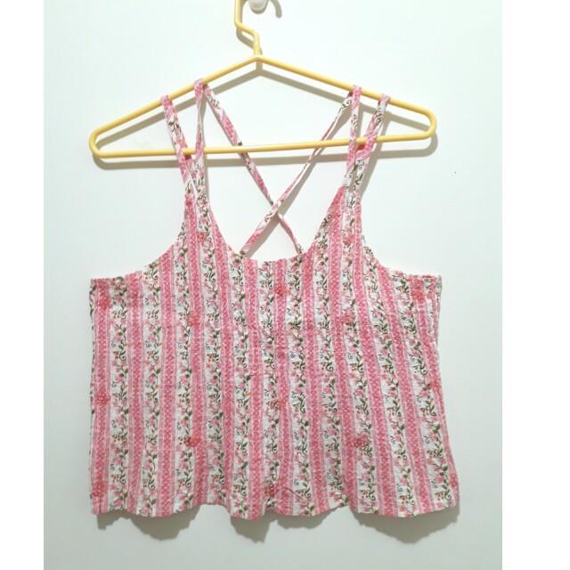 [二手]澳洲購入 純棉粉紅小碎花衣