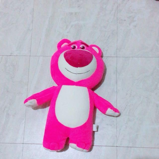 玩具總動員 粉紅熊抱哥 玩偶