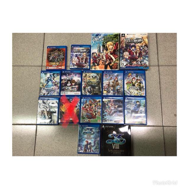 二手遊戲片 ps vita 3ds