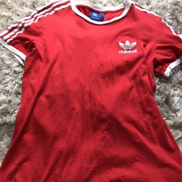 Adidas red top