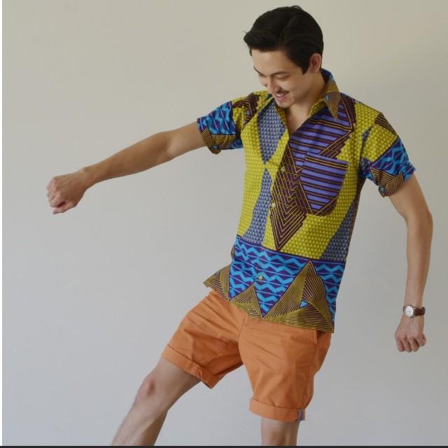 Afrix Men's Button Up Shirt