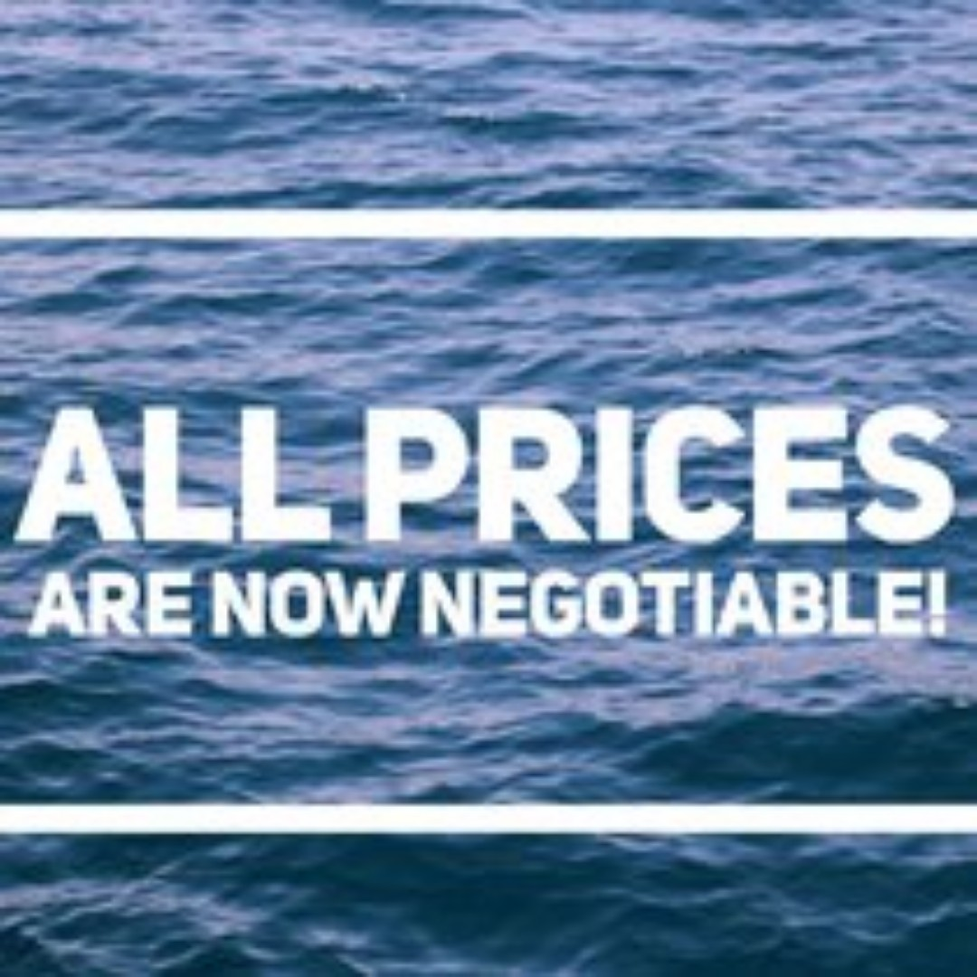 ALL prices are now negotiable!