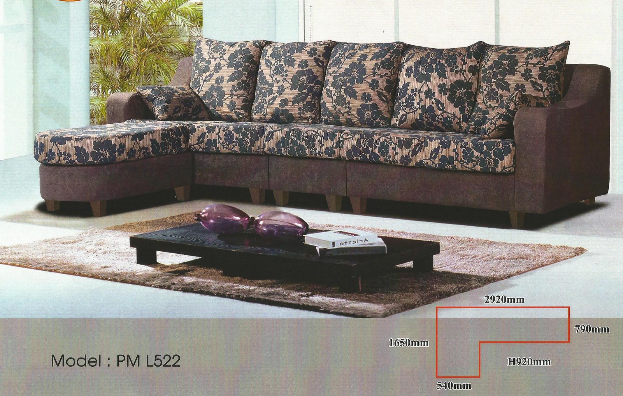 Ansuran Bulanan Murah Sofa L Shape Model 522 Home Furniture