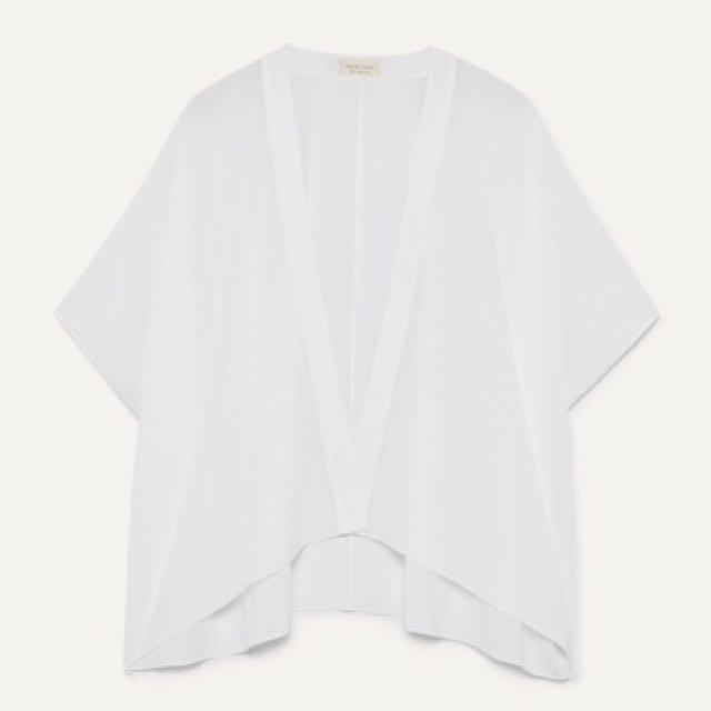 Aritzia fawkner blouse white
