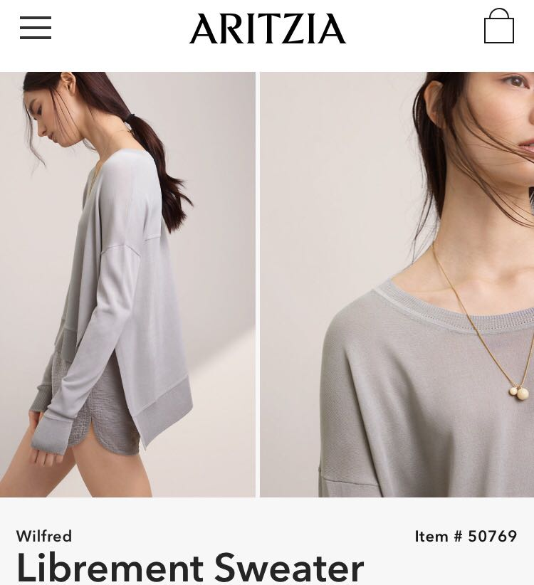 Aritzia Wilfred Librement Sweater Size Small