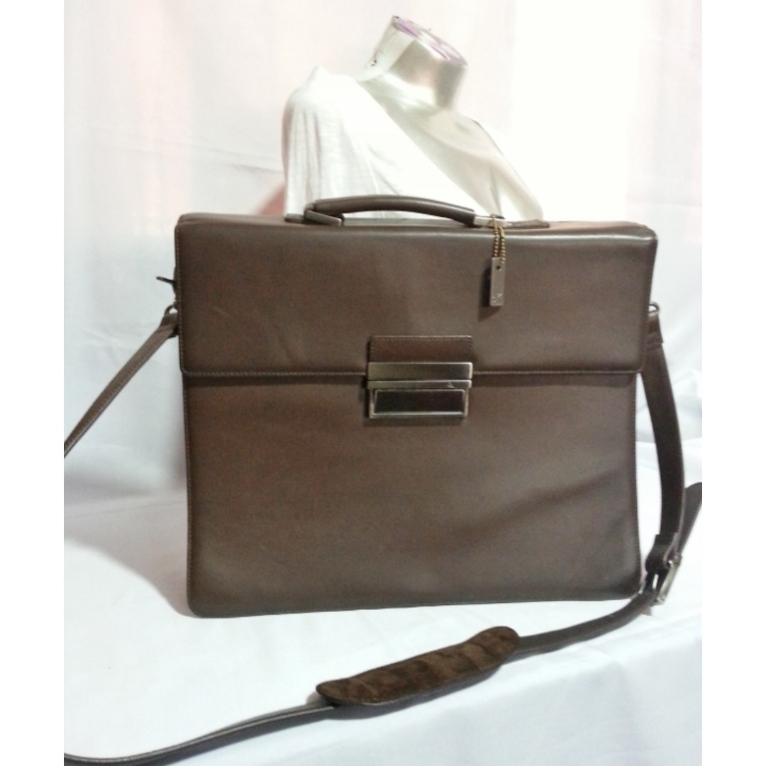 Authentic CALVIN KLEIN Portfolio Brown Leather Bag