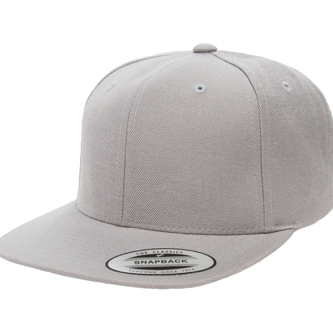 AUTHENTIC YUPOONG PREMIUM CLASSIC SNAPBACK - SLIVER ab25ee09042