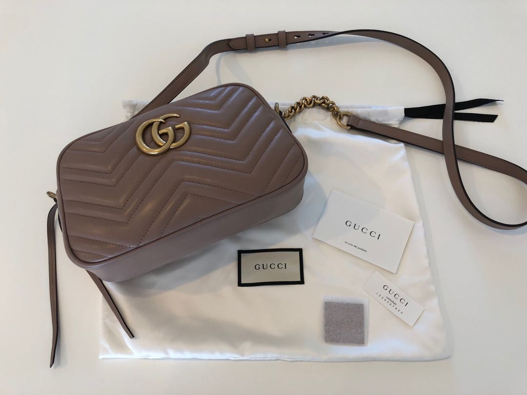 Authentic Gucci GG Marmont Matelasse Small Bag