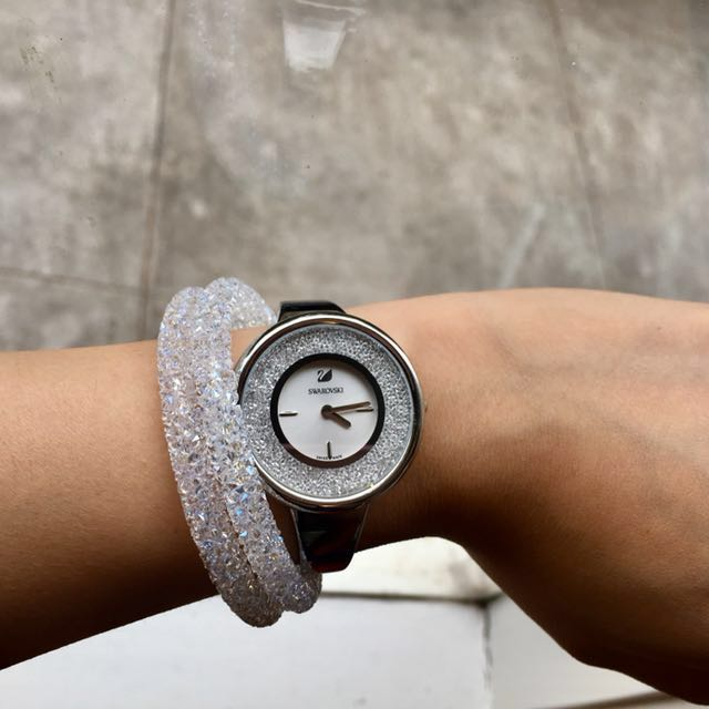 Authentic Swarovski Crystalline Pure watch in silver