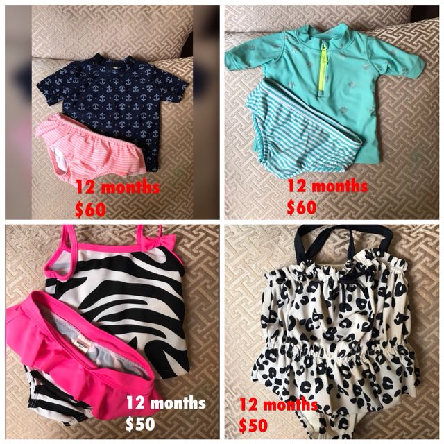 Baby swimsuits (12months)