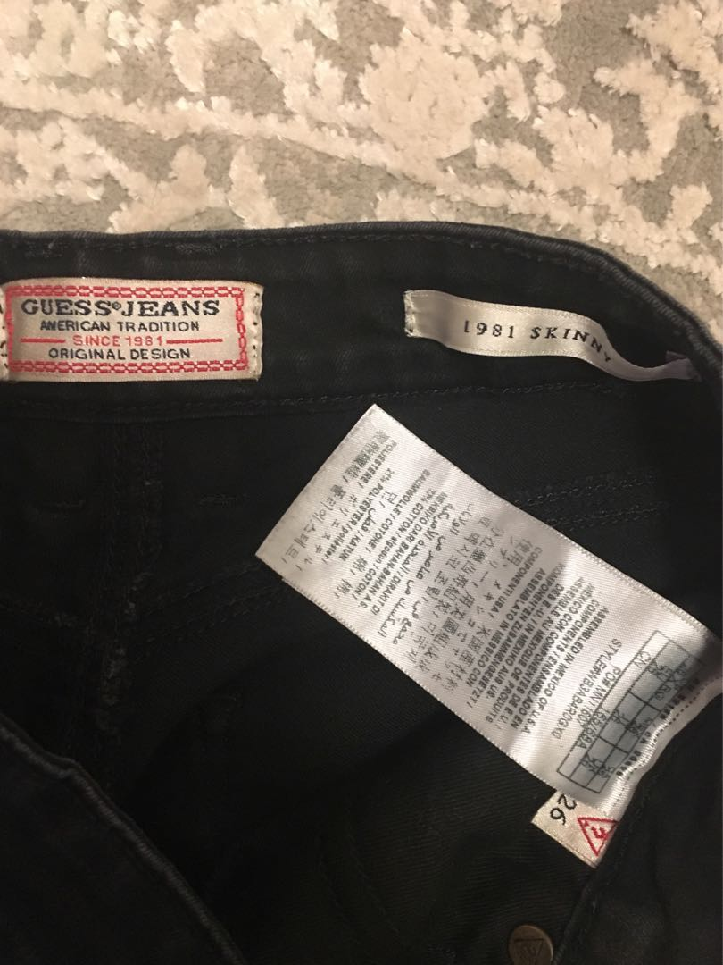Black Guess High Waisted Jeans size 26
