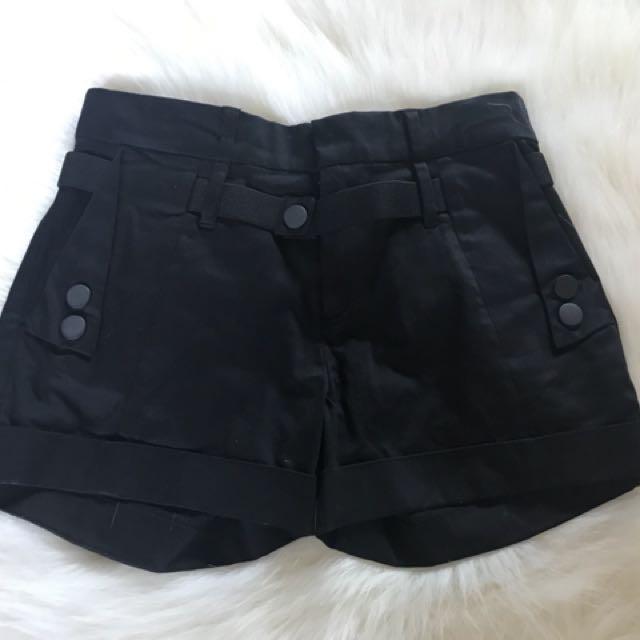 Black tuxedo shorts