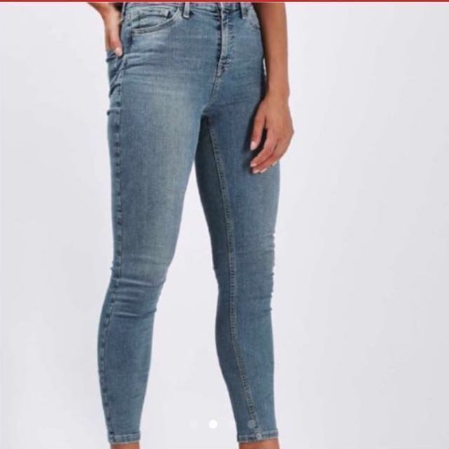 BNWT HIGH WAISTED  topshop jeans size 25