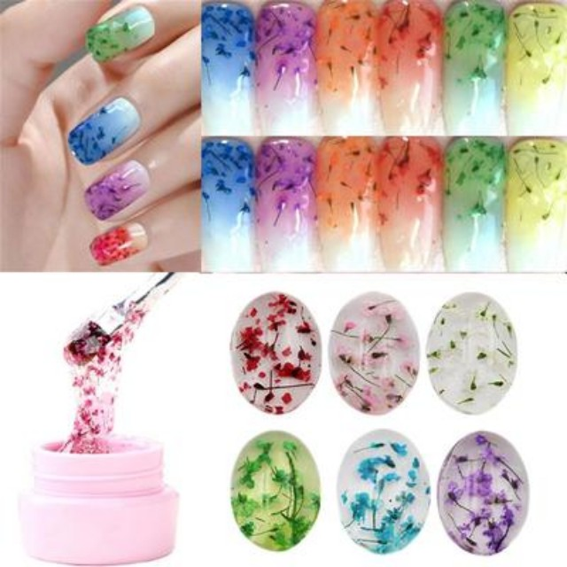 BORN PRETTY Flower Fairy Nail Gel 5g 6 Colors Available Floral Soak ...