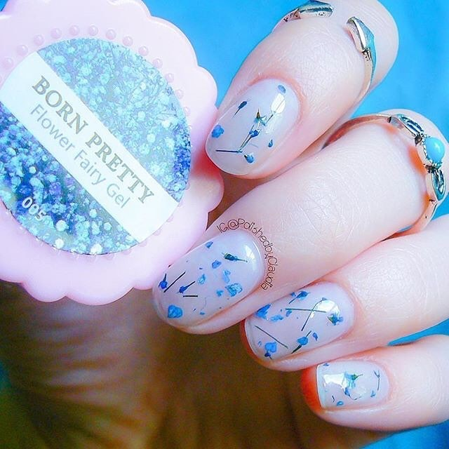 Born Pretty Flower Fairy Nail Gel 5g 6 Colors Available Floral Soak