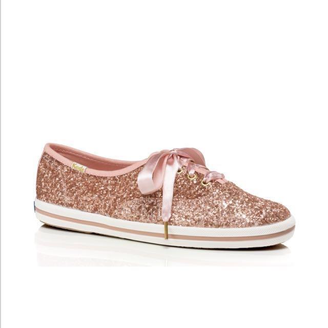 BRAND NEW keds x kate spade new york glitter sneakers