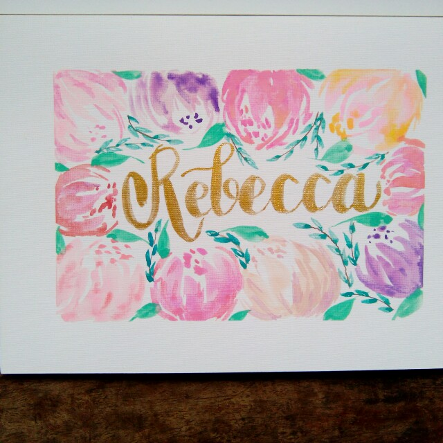 Calligraphy name with frame