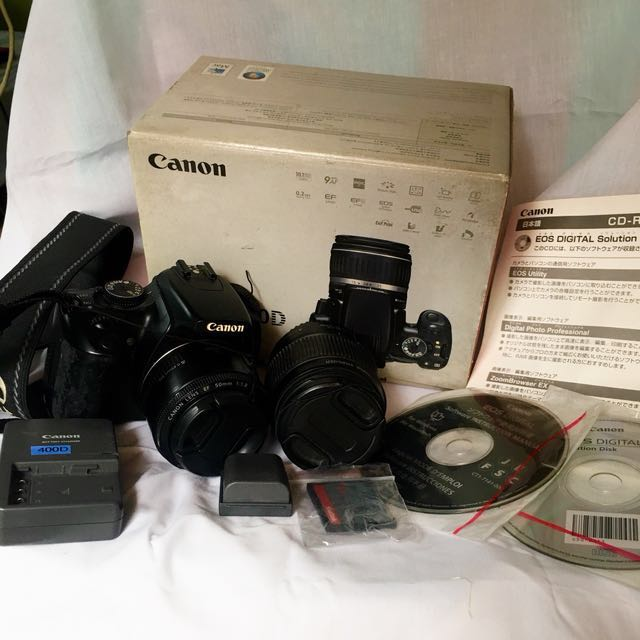 Canon EOS 400D w/ Prime Lens & Kit Lens (FULL KIT)