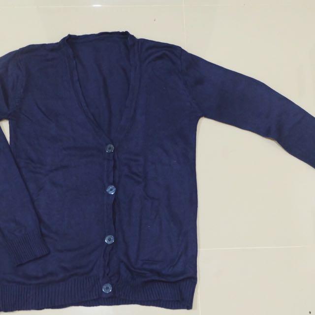 Cardigan navy blue
