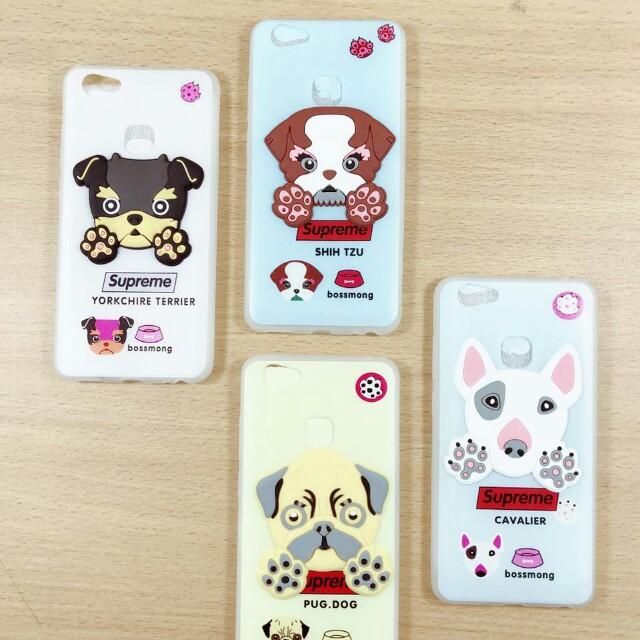 Case cartoon shio anjing supreme Vivo V7 /plus