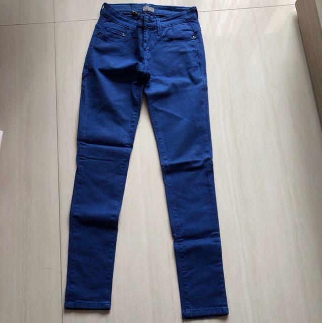 Celana Panjang Skinny Biru