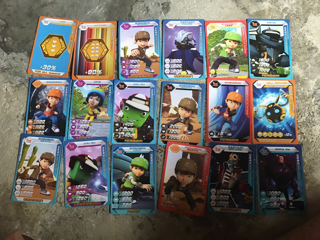 Choki Choki Boboiboy Galaxy Wars Card Toys Games Other Toys On