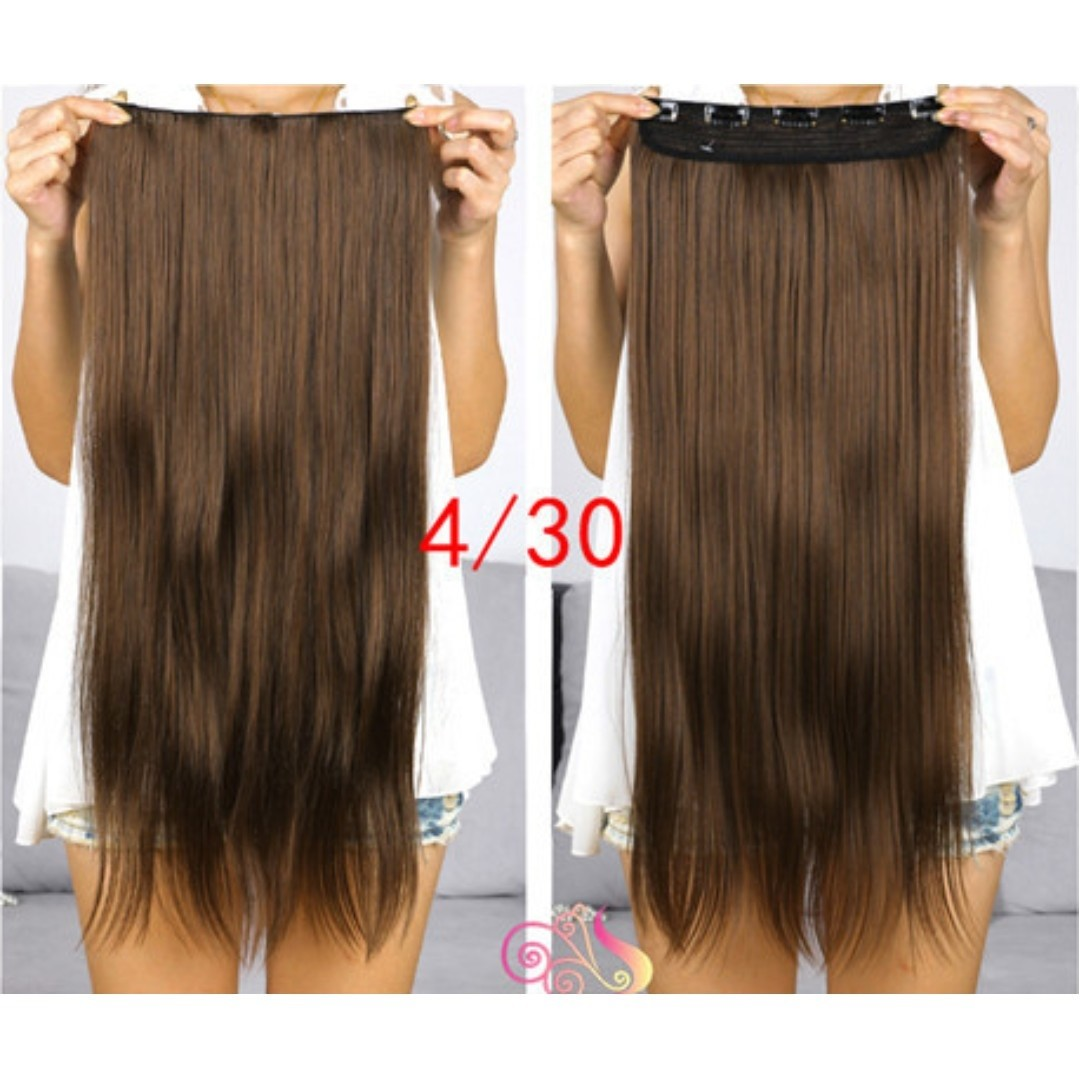Classic 1 Piece Hair Extensions Auburn Brown Promo Till Mth End