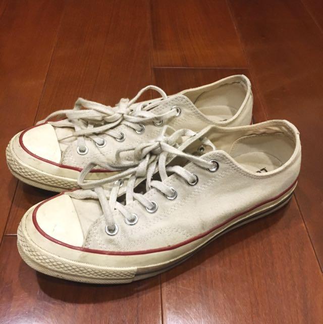 Converse All Star Ct 1970 70's 黑標 白鞋
