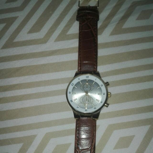 Cote D'azur leather watch