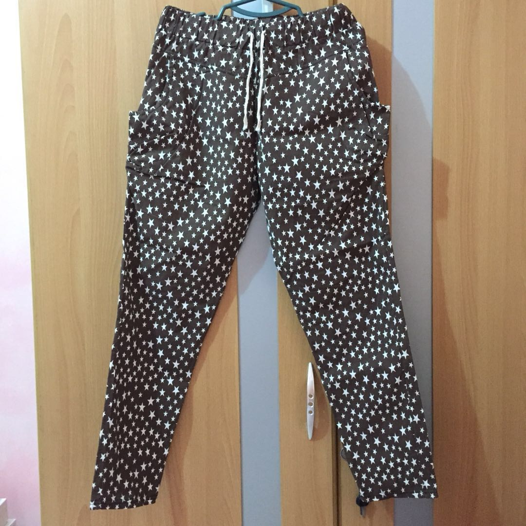 Cotton printed stars pants