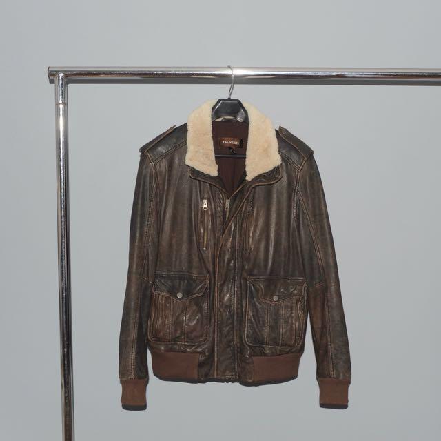 Danier Shearling Leather Jacket - Medium