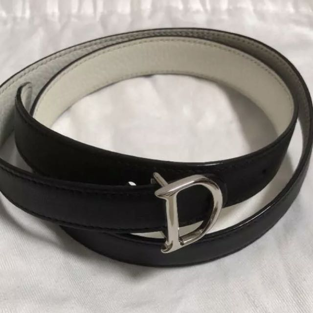 Dior 迪奧黑白雙色2用皮帶