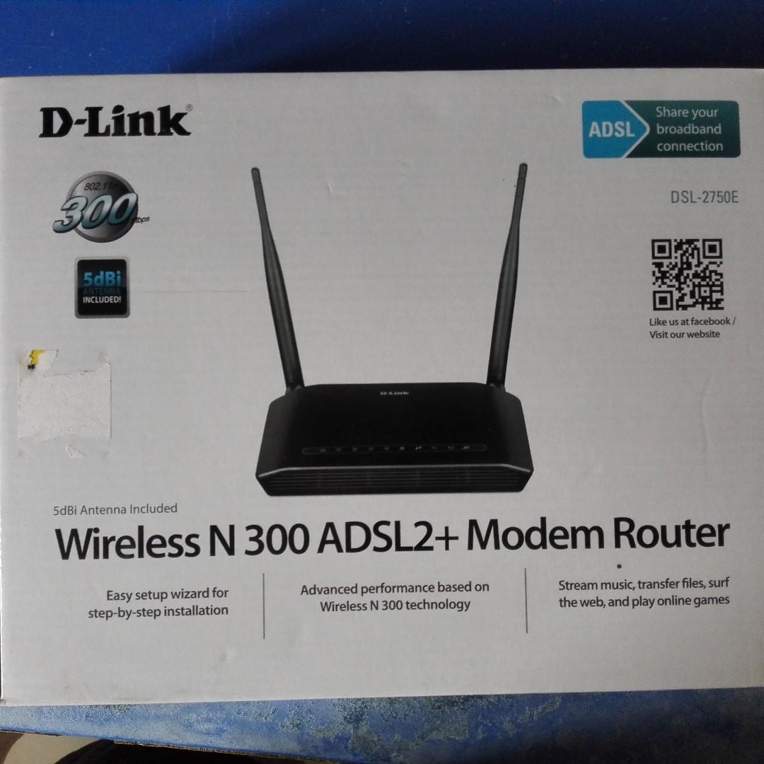 D Link Dsl 2750e Wireless N300 Adsl2 Modem Router Usb Best Buy Tenda 11n Wifi Dh301 4port Switch In One Device Photo