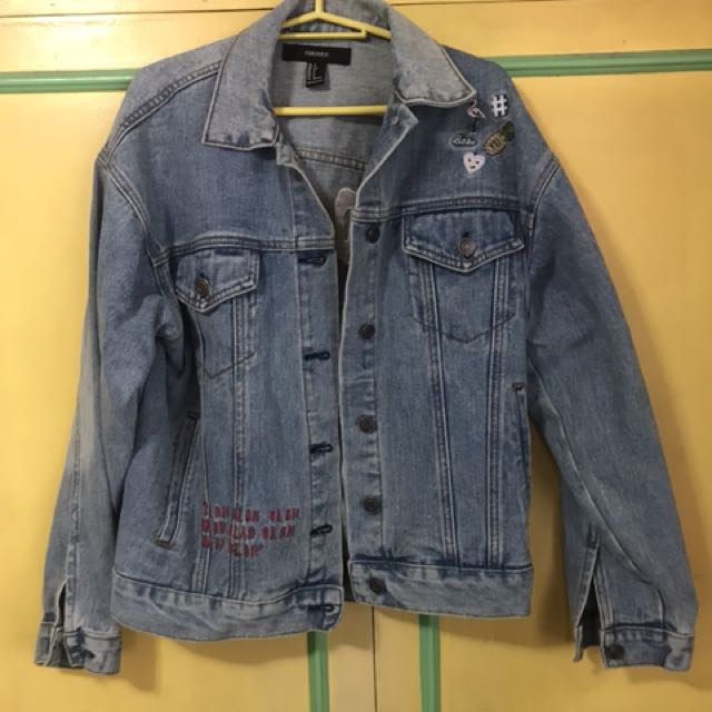 Forever 21 oversized denim jacket