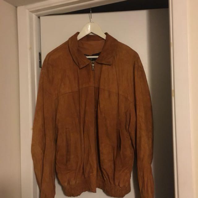 Genuine Suede Jacket — Men's