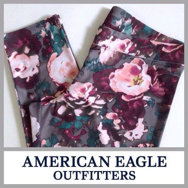 High Waist Floral Leggings American Eagle Outfitters