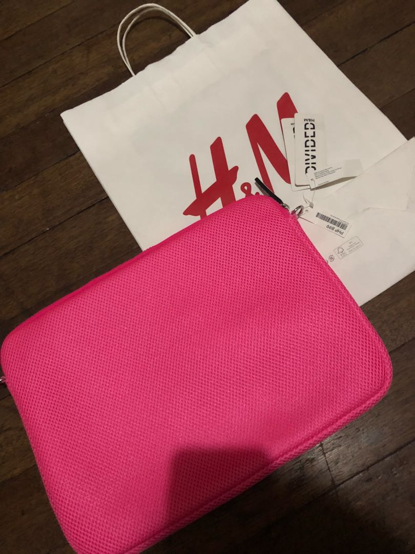 H&M pink laptop case