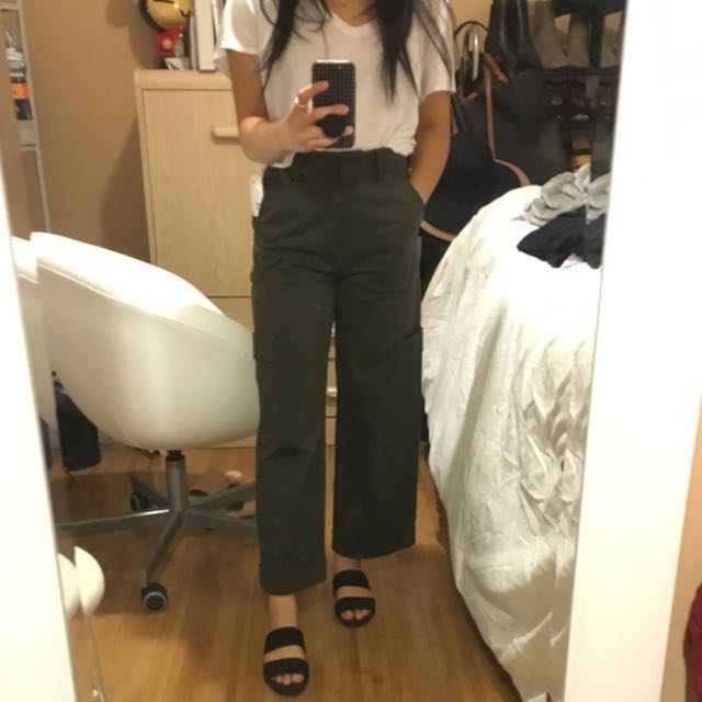 H&M Wide Twill Cargo Pants