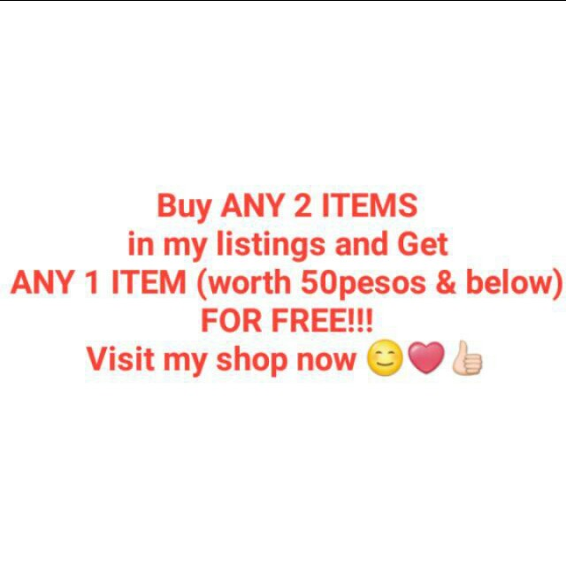 HURRY, BUY NOW!!! GET A FREEBIE OF YOUR CHOICE